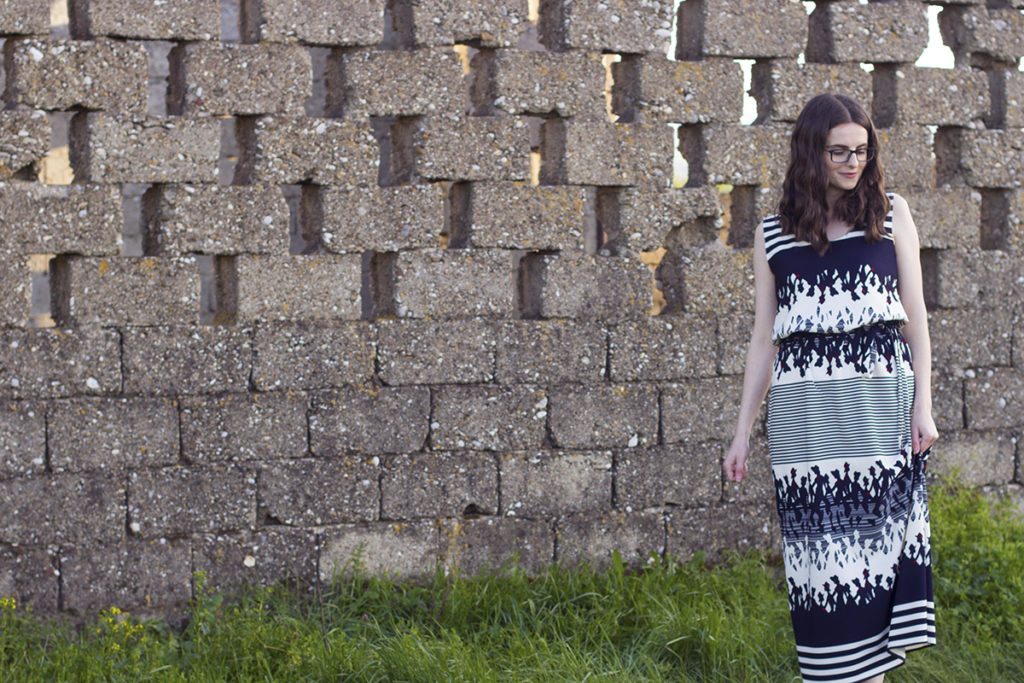 Maxi Dress Tutorial Based On The Plantain T-shirt Pattern