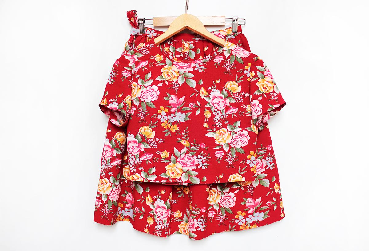 Summer Linen Top&Skirt